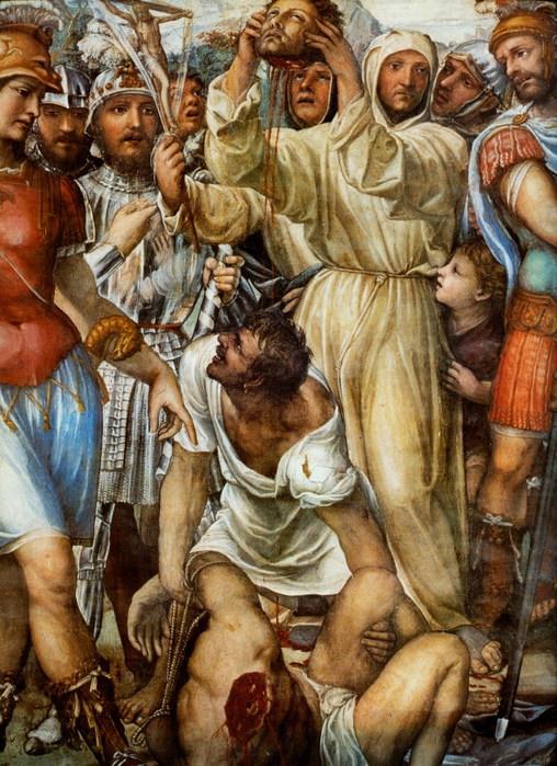 Казнь Николо ди Тульдо. 1526  ц. Сан Доменико, Сиена Деталь фрески (508x700, 147Kb)