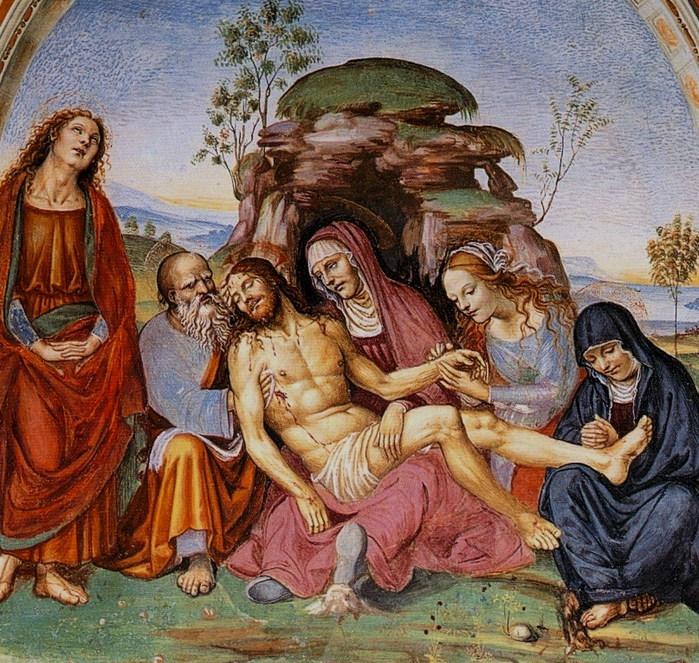 «Пьета». Фреска. 1503-1504   Монастырь Св. Анны в Кампрене. (700x663, 205Kb)