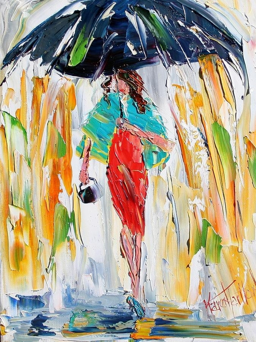 red-dress-in-the-rain-karen-tarlton (524x700, 378Kb)