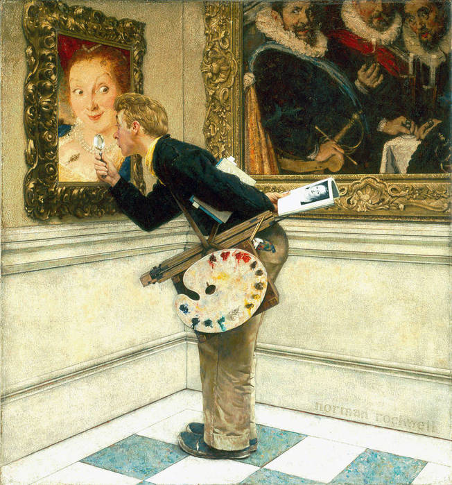 Norman Rockwell (American, 1894-1978).The-Art-Critic-1955 (652x700, 113Kb)
