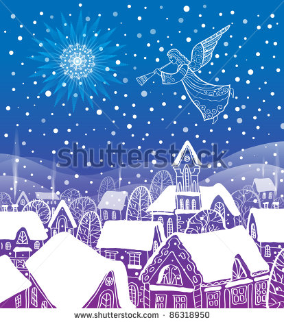 stock-vector-angel-of-the-city-at-christmas-86318950 (414x470, 85Kb)
