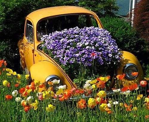 необычные идеи для цветников своими руками - Дача Своими Руками