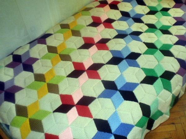 Тунисское вязание крючком пледы подушки покрывала схемы 302