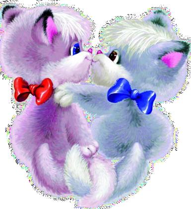 Мерцающие открытки поцелуйчики и обнимашки