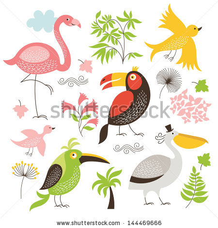 stock-vector-set-of-exotic-birds-144469666 (450x470, 60Kb)