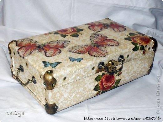 Декупаж чемодана своими руками мастер класс салфетками