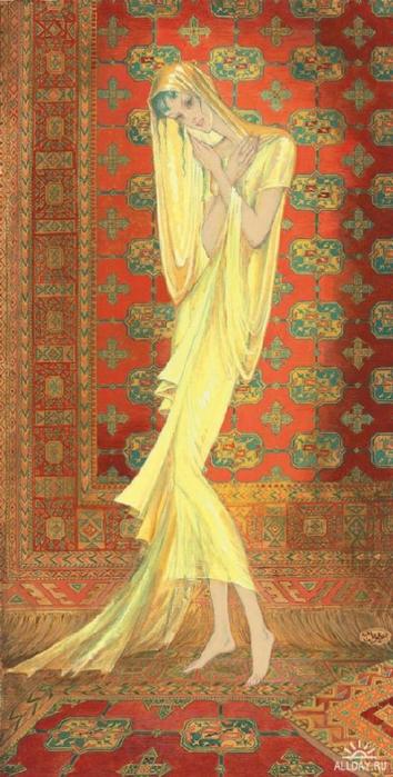11 Женщина, облаченная в вуаль 1954 (354x700, 349Kb)