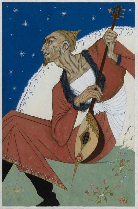 12 uzbek igrayushhij na mandoline 1958 (462x700, 395Kb)