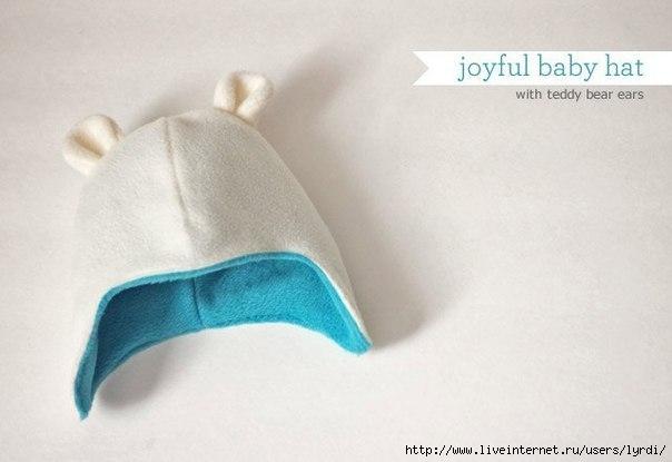 Выкройка шапочки младенцу