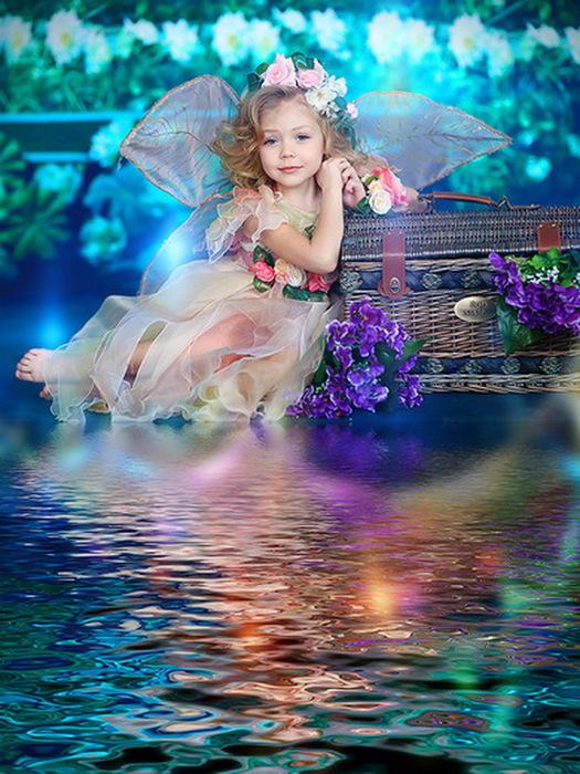 Картинки с добрым утром ангелочек, открытка днем