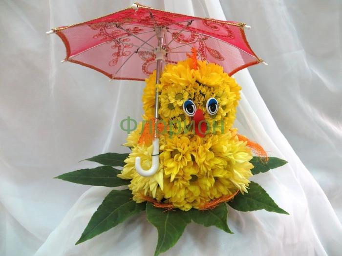 Букет из цветов на выставку