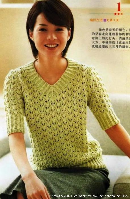Latezoomacetam вязание женские летние кофточки со спицами и