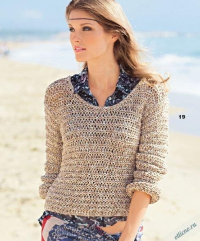 Вязание простые модели, вязание спицами туники платья 138