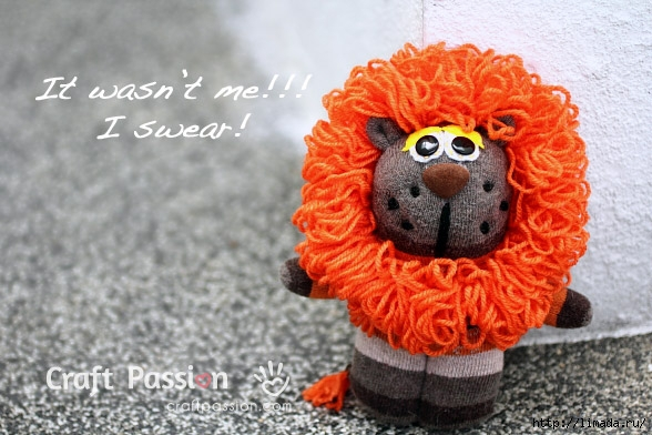 sock-lion-sew-pattern (588x392, 179Kb)