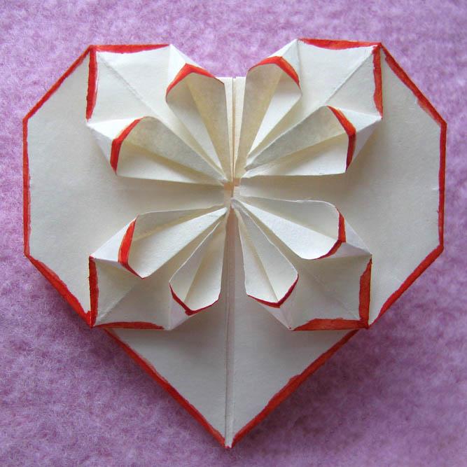 Для, оригами открытка на день валентина