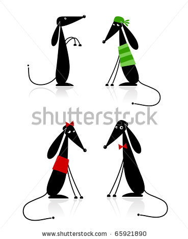 stock-vector-funny-black-dogs-silhouette-collection-for-your-design-65921890 (369x470, 23Kb)