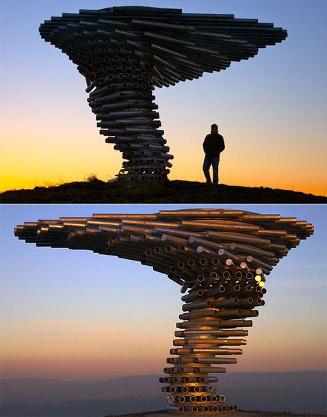 Поющее дерево, сделано из труб. англия. г. бернли