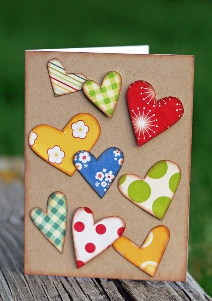 открытка с сердечками своими руками Открытки своими руками