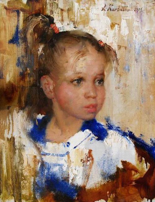 Карташов Андрей. Девочка с синим воротником (499x650, 316Kb)