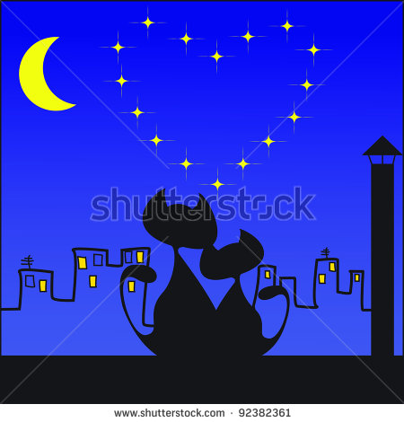 stock-vector-two-cats-under-the-moon-92382361 (450x470, 41Kb)