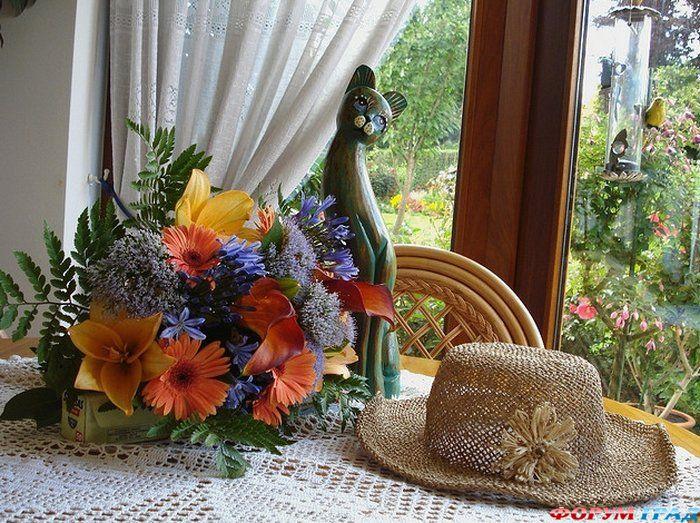 картинки лето шляпа и цветы синглы этой композицией