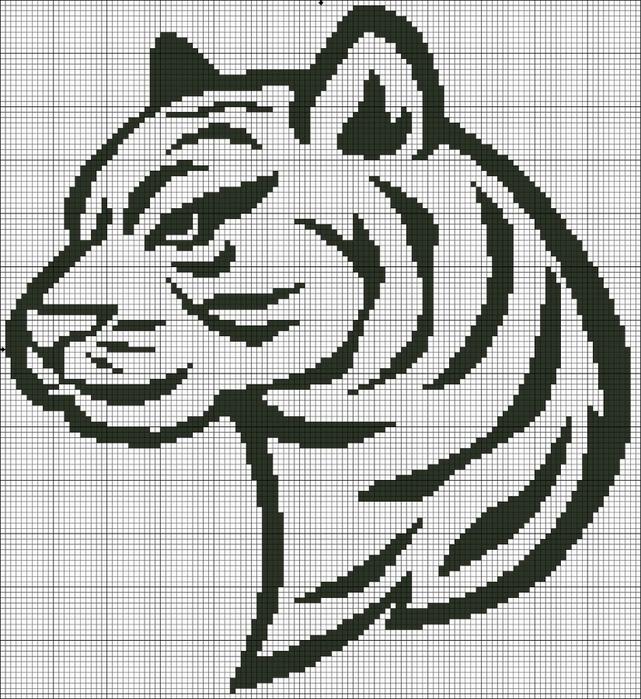 картинки по клеткам тигр этом конкурсе жюри