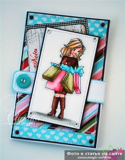 Марта, скрапбукинг открытки подруге
