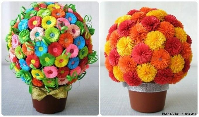 цветы из гофрированной бумаги записи в рубрике цветы из