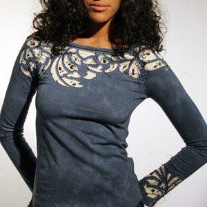 Аппликации из ткани на одежде