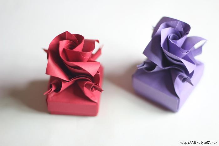 f028f4c3ab9e Коробочка с розой в технике оригами. Видео мастер-класс. Обсуждение на  LiveInternet - Российский Сервис Онлайн-Дневников