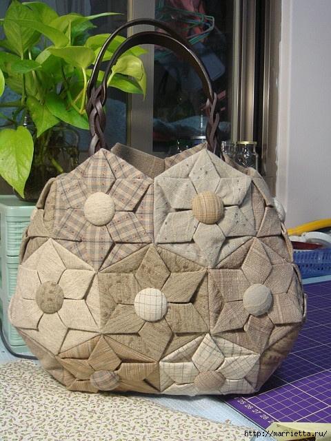 2e3d7cfd73c3 Как же мне нравятся эти сумочки в технике лоскутного оригами ...