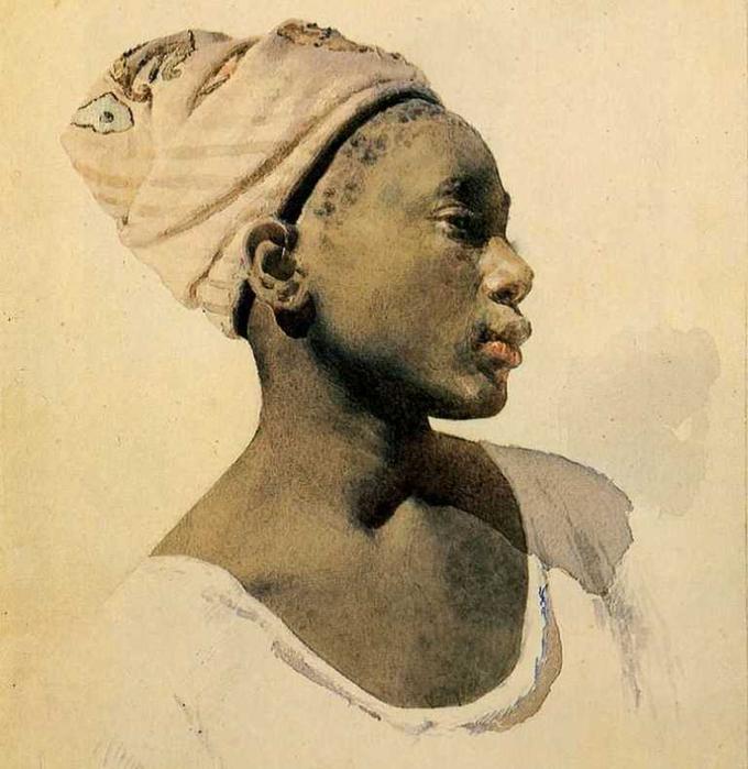 Молодой дагомеец, 1895 (680x700, 322Kb)