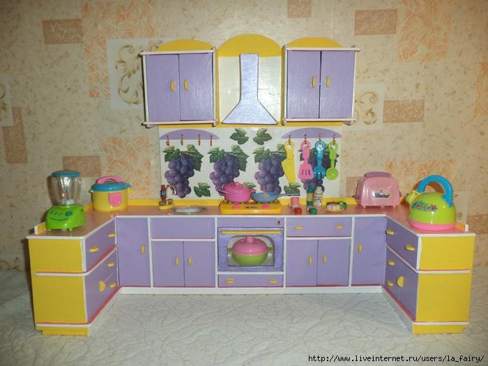 руками своими мебель кухня кукол для