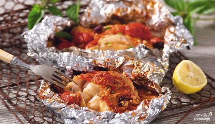 Рецепты блюд в фольге