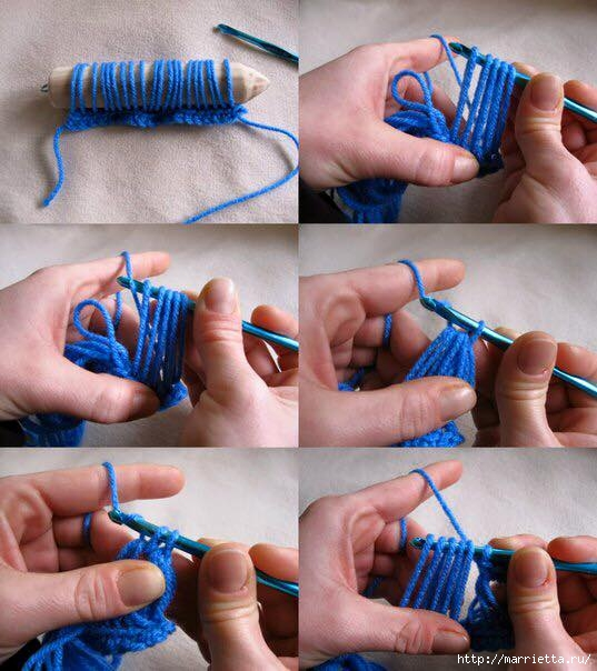 вязание ажурного снуда