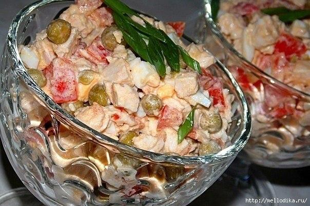 The грудкой с куриной Вкусный салат JoshCliven