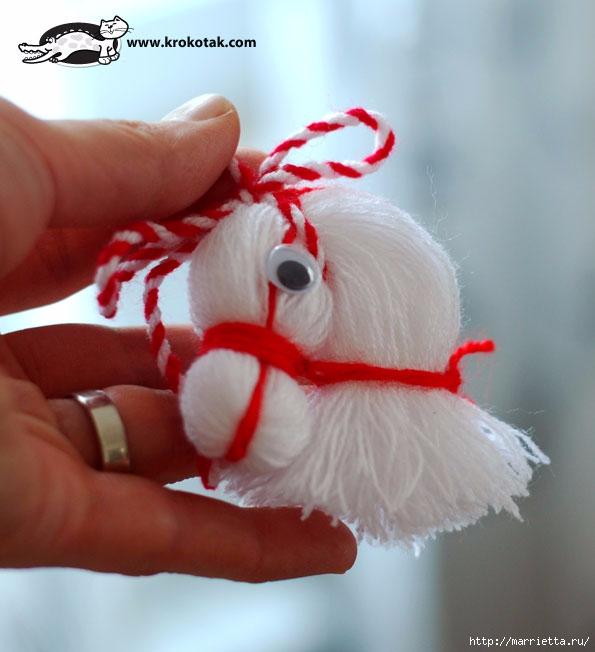 Лошадка из пряжи. Подвеска для новогодней елки (2) (595x652, 159Kb)