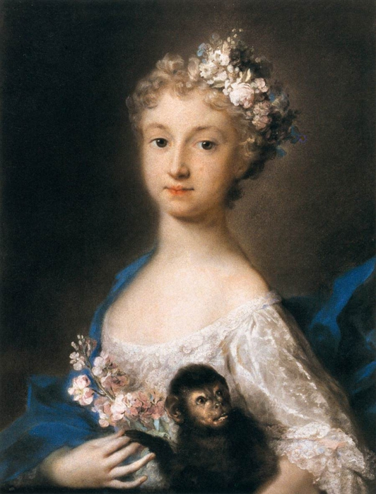 2097049_Carriera_Rosalba_Giovanna_16751757__Girl_holding_a_monkey_pastel__Louvre_Paris (532x700, 260Kb)//2097049_Carriera_Rosalba_Giovanna_16751757__Girl_holding_a_monkey_pastel__Louvre_Paris_1_ (532x700, 260Kb)