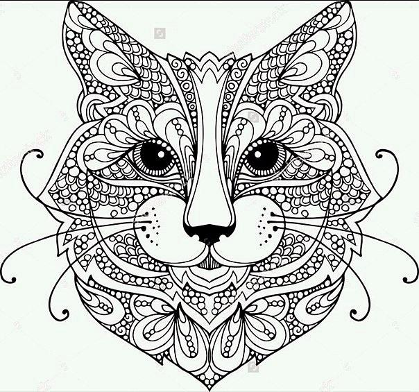 Сложные раскраски с животными - для тех, кто не боится ...