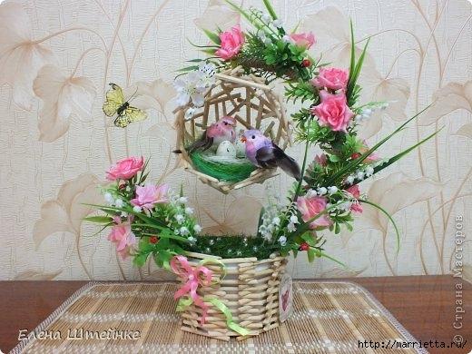 Птичье гнездышко из деревянных палочек. Мастер-класс (6) (520x390, 151Kb)