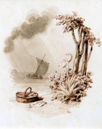 1354922957-vignette-sailing-boat-fish-basket-and-flowers-on-a-tree-lined-bank (358x450, 48Kb)