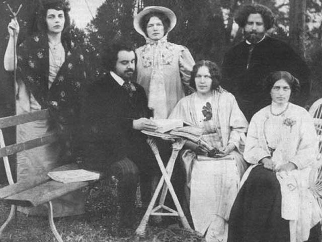 Аделаида Герцык в центре, стоит. Справа - Волошин, слева - Бердяев.961_570 (640x480, 172Kb)