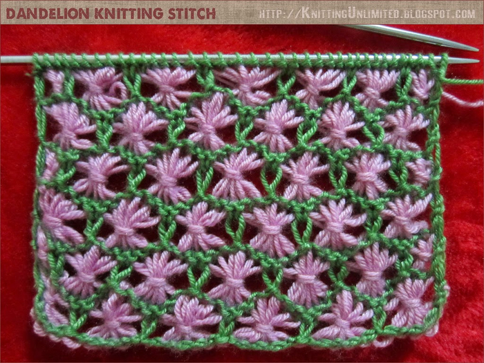 dandelion knitting stitch (700x525, 480Kb)
