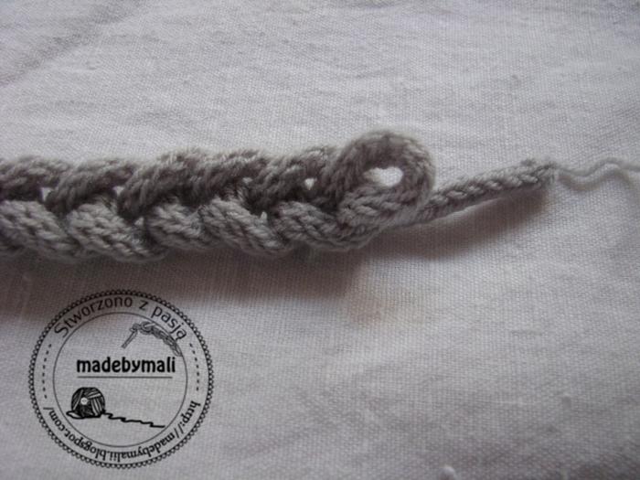 Косичка-браслет из вязанного шнурка