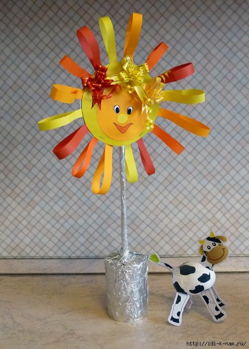 Сделать поделку солнышко в детский сад