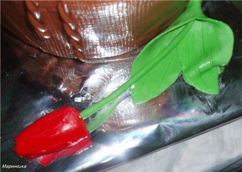 тюльпаны из мастики пошаговое фото пятницу
