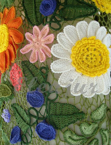 вязание платье цветочная нежность