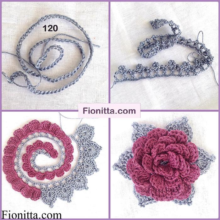 Объемные цветы крючком схемы и 39