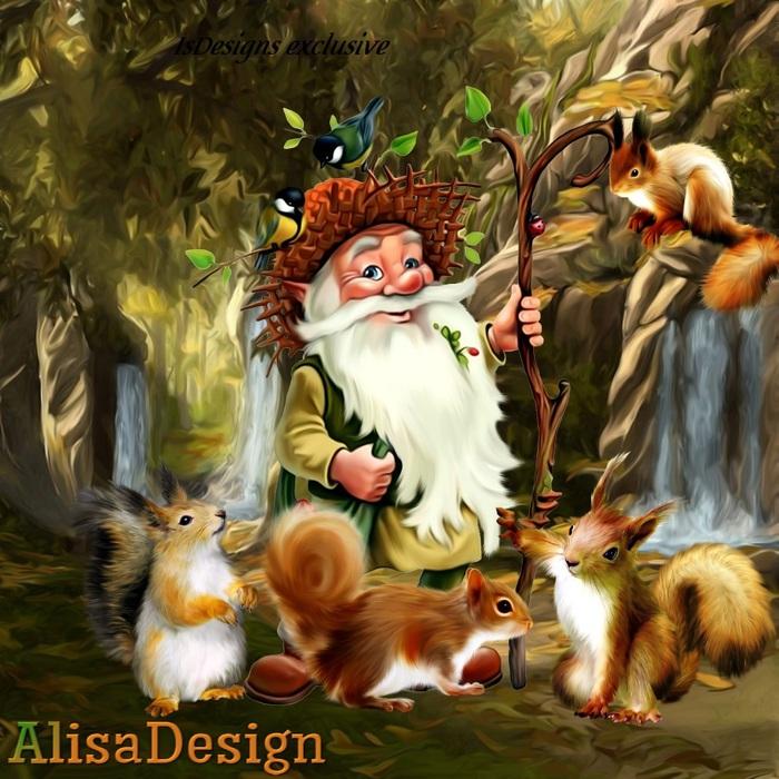 Картинка лесовичка для детей, поздравлением рождения