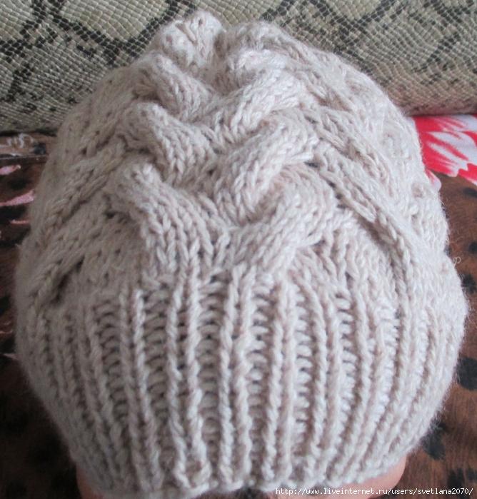 шапка из пряжи норка спицами